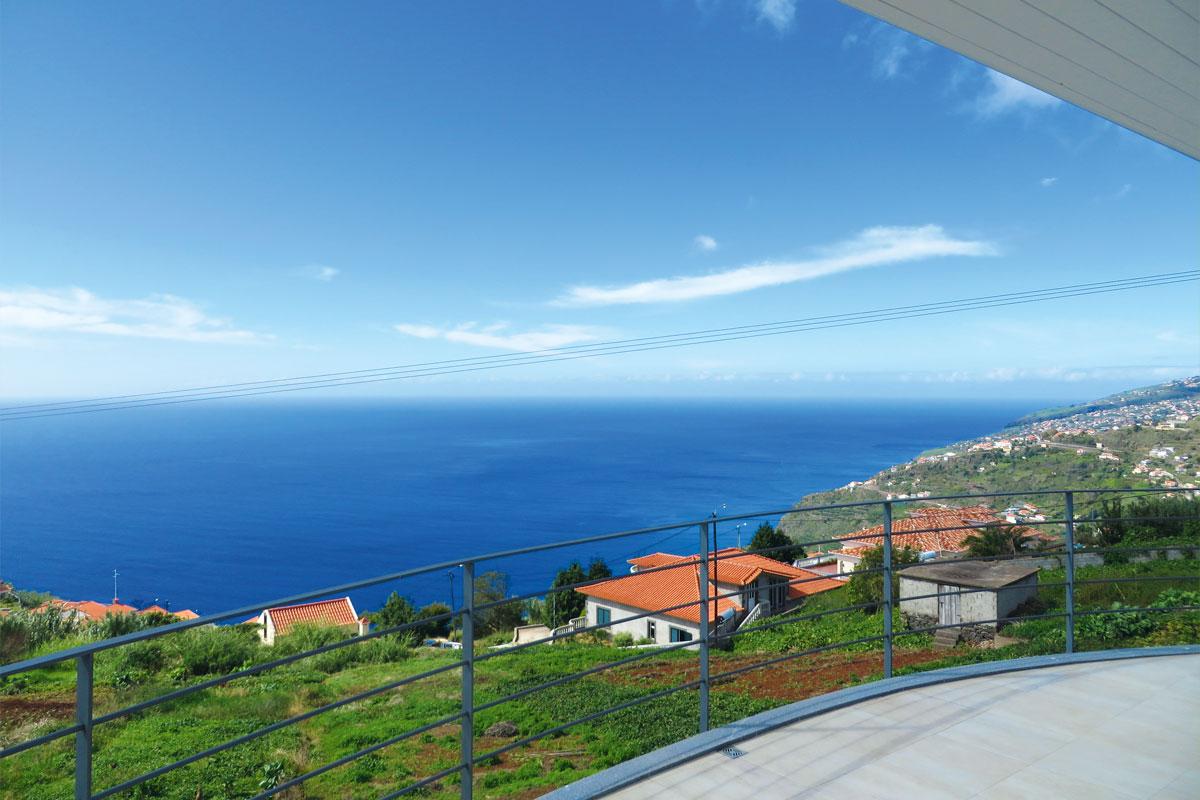 Mar e mais Ferienhaus Madeira Blick von der Dachterrasse
